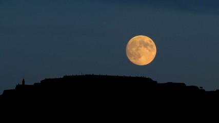 Serbia Petrovaradin moonrise