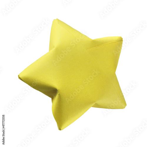 Yellow origami star - 47772558