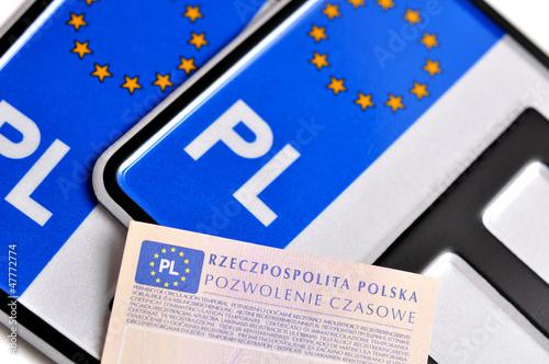 Polish license plates - polskie tablice rejestracyjne - 47772774