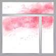Pink watercolor abstract banners.