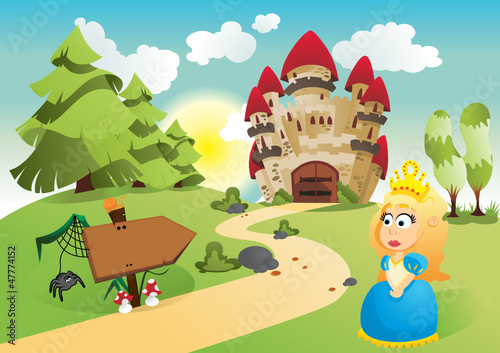 Papiers peints Chateau The princess and her kingdom