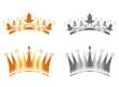 Couronnes des rois or et argent - Epiphanie