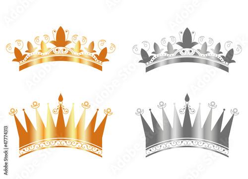 Couronnes des rois or et argent epiphanie fichier - Image couronne des rois ...
