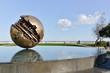 Leinwanddruck Bild - Pesaro and the Great Ball of A. Pomodoro (sculptor)
