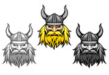 Agressive viking warriors