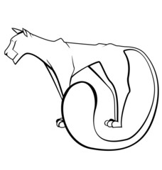 Black and white panther vector