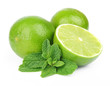 Lobes of  lime with mint