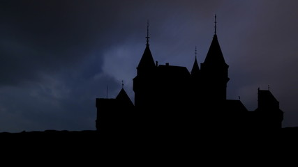 Slovakia Bojnice Castle storm