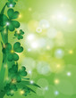 Shamrock Leaves with Bokeh Background Illustration