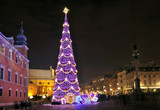 Fototapety Christmas tree in Warsaw, Poland