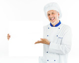 Smiling chef portrait