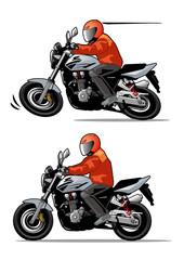 走行するオートバイ