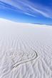 Heart Shape on White Sands