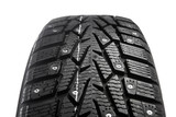 winter tire with snow spikes and protector poster