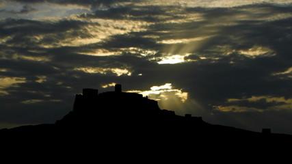 Slovakia Castle Spis sunpassing