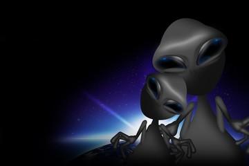 Two Gray Aliens