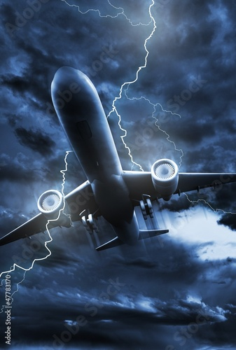 Airplane Lightning Strike