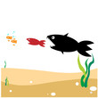 food chain, a small fish is food for big fish,metaphorical