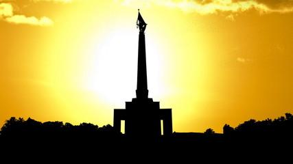 Slovakia Slavin memorial Bratislava golden sunset