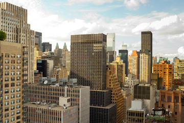 Midtown East Side rooftops, New York