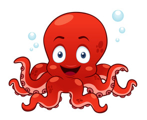 illustration of Cartoon octopus