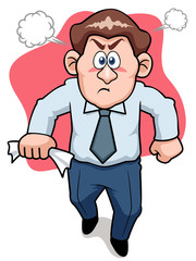 illustration of Angry business man