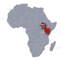 Afrikakarte Kenia