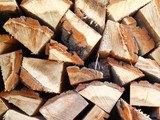 Firewood combined in a woodpile poster