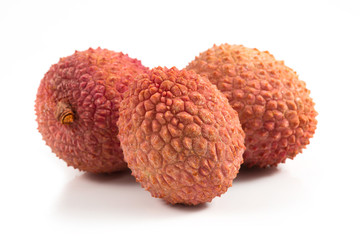 lychees on white