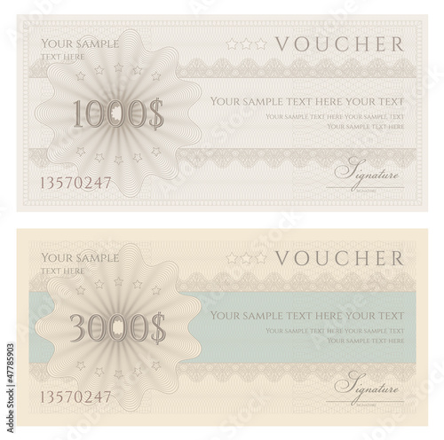 Voucher / coupon