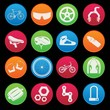 Bicycle modern icon set