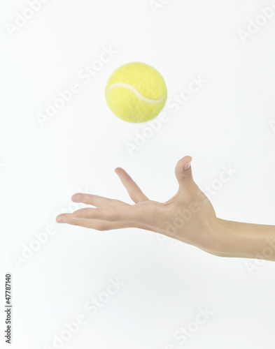 tennis ball throw up