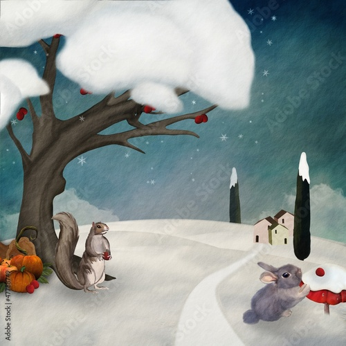 Winter resources - Digital painted illustration