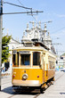 tram in front of Carmo Church (Igreja do Carmo), Porto, Portugal
