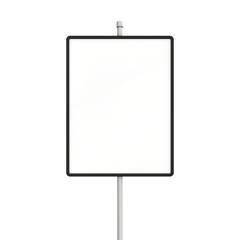 Blank large road sign