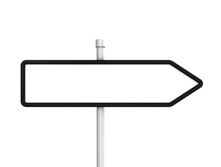 Blank arrow signs isolated on white background