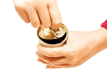 Process of opening of a can