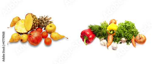 Different fruit and vegetables