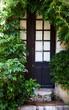 Zugewachsene Eingangstür in mediterranem Stil