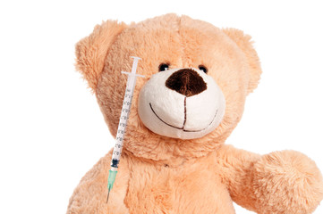 Teddy Bear with Syringe