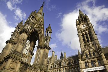 Manchester Town Hall, gothic style. England