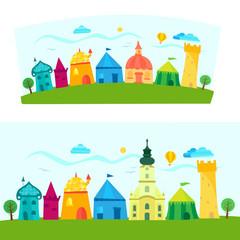 Town, children's book illustration