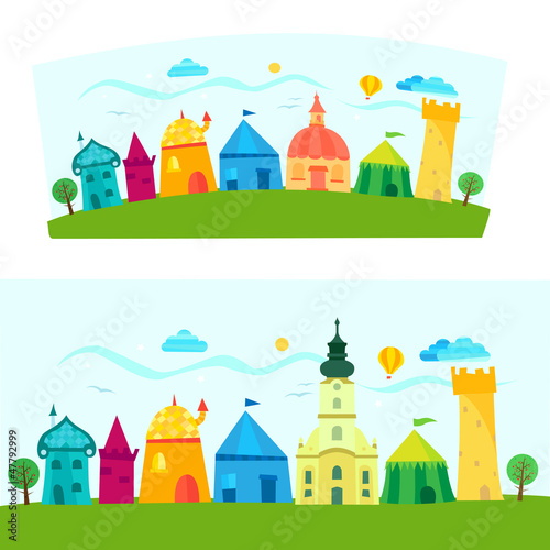 Town, children's book illustration © tasnadi_otto
