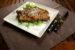 Grilled beef steak with bone, BBQ meat