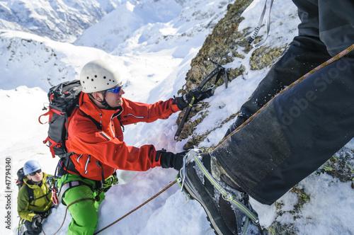 Klettertour im Schnee