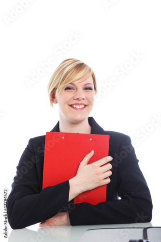 Overjoyed woman with a beaming smile