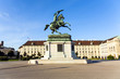 horse and rider statue of archduke Karl in vienna