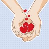 Hearts in hands - 47794750