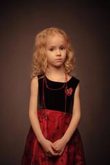 Retro-sryled girl studio portrait