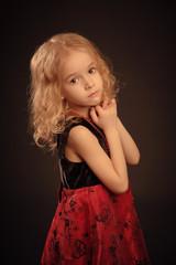 Little calm girl portrait